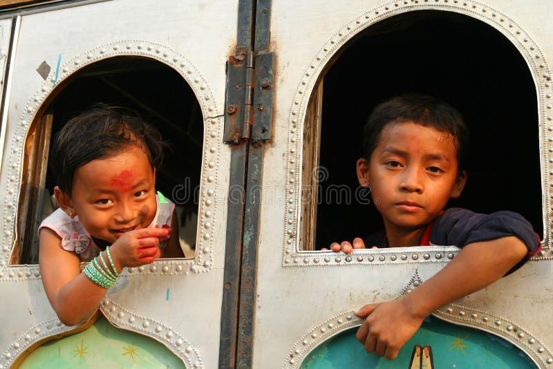 Crianças nepalesas imagem de stock royalty free