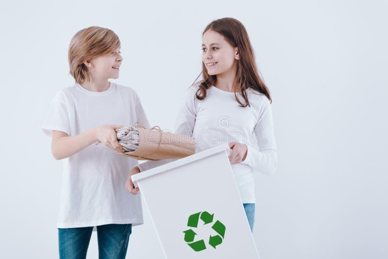 Crianças no fundo branco foto de stock royalty free
