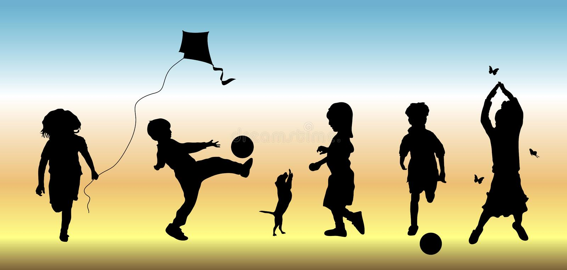 Crianças no jogo 3 ilustração royalty free