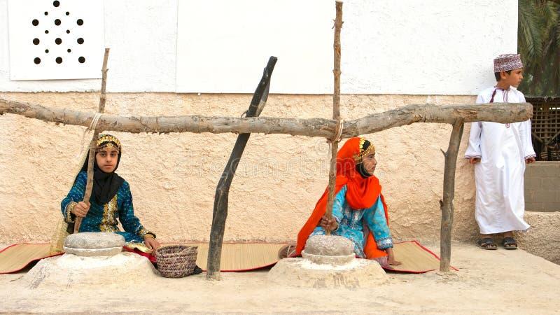 Crianças omanenses imagem de stock