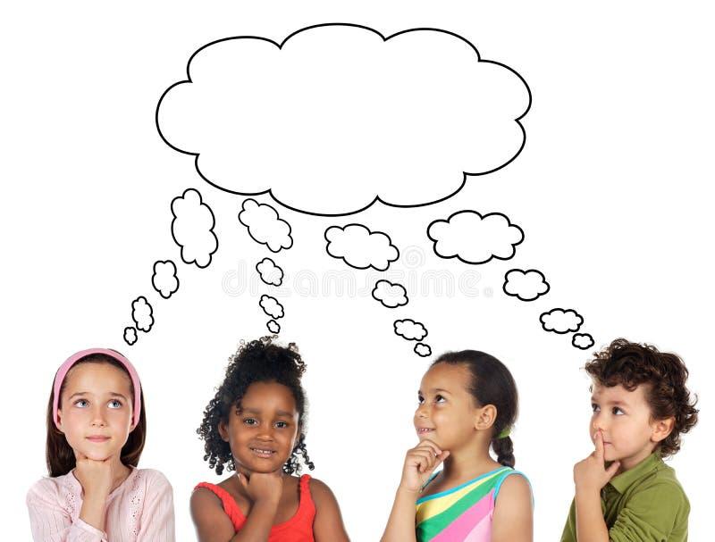 Crianças pensativas imagens de stock royalty free