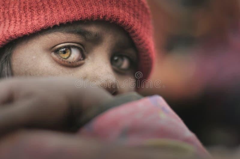 Crianças pobres de Bihar fotografia de stock
