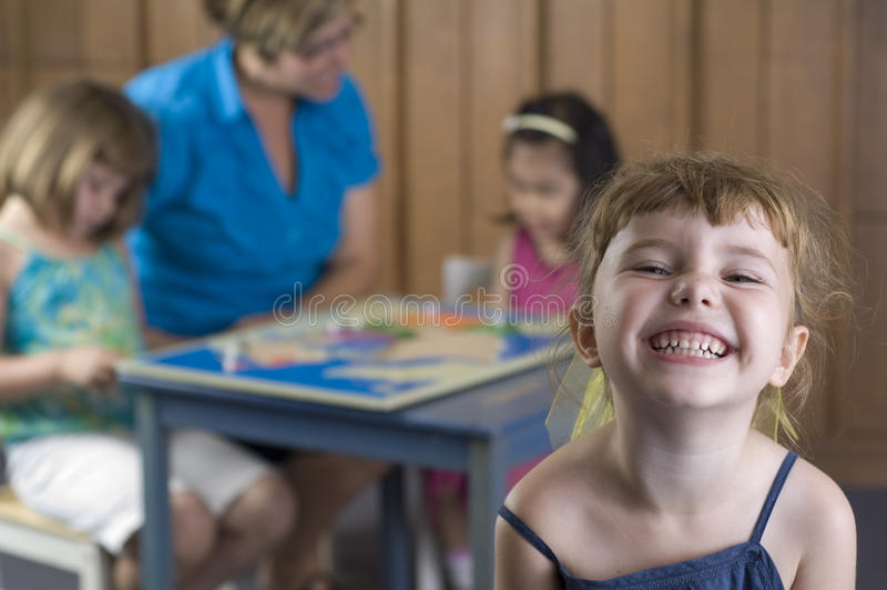 Crianças prées-escolar imagens de stock