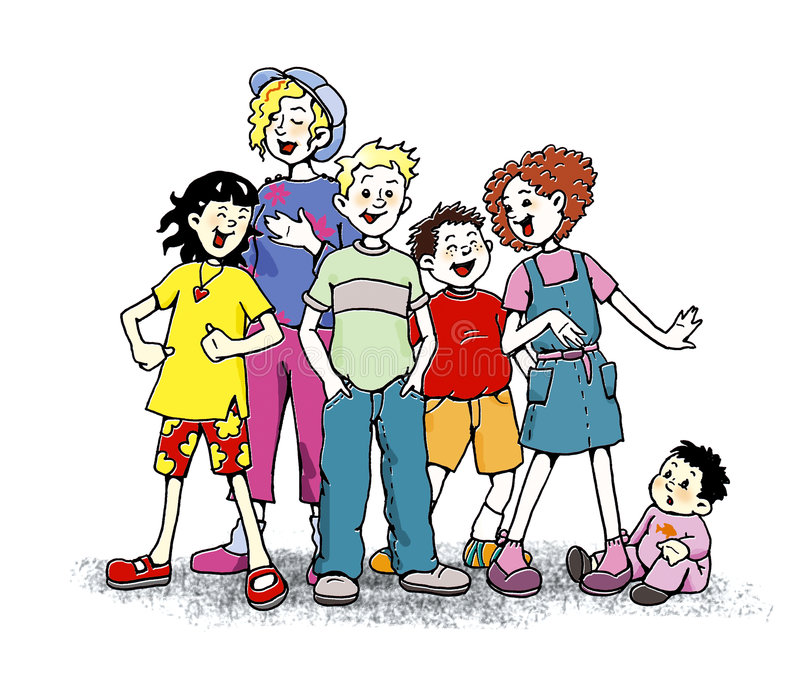 Crianças que cantam ilustração do vetor