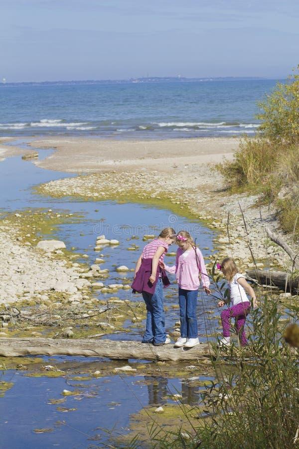 Crianças que exploram. fotografia de stock royalty free