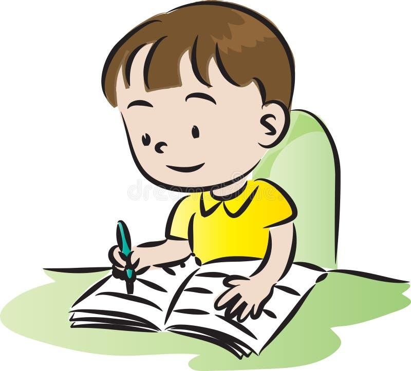 Crianças que fazem trabalhos de casa ilustração stock