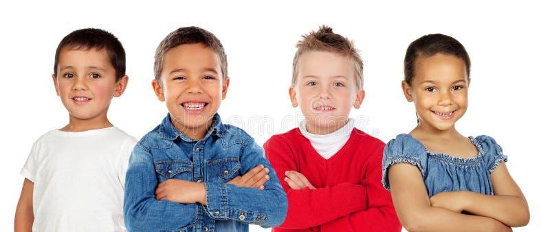 Crianças que olham a câmera fotografia de stock