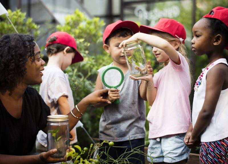 Crianças que têm uma estadia do divertimento junto fotos de stock royalty free