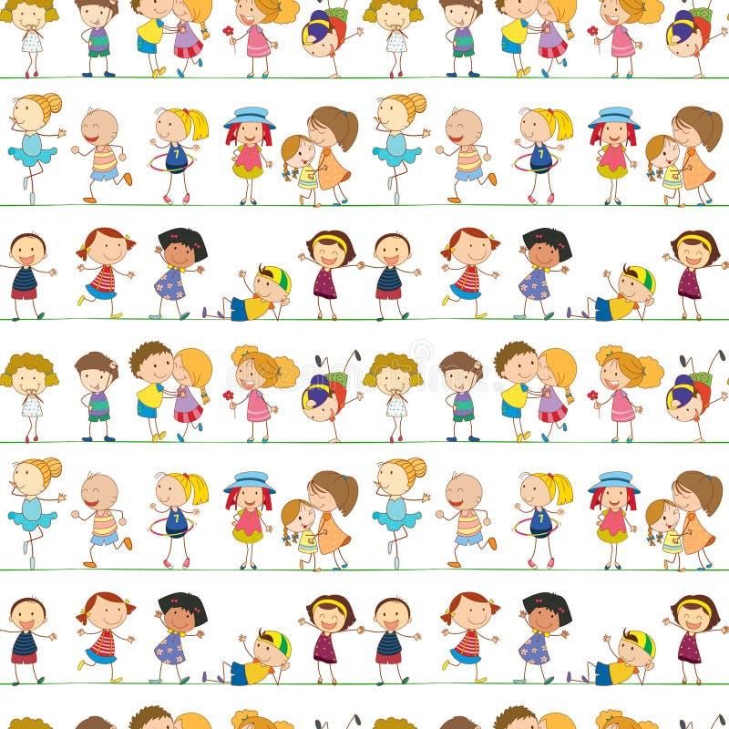 Crianças sem emenda ilustração stock