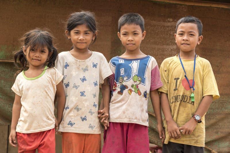 Crianças Siem Reap Camboja da vila imagem de stock royalty free