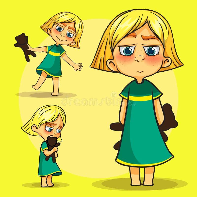 Crianças simples ajustadas ilustração stock