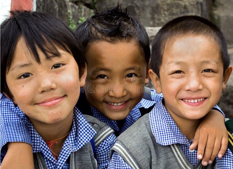 Crianças tibetanas fotografia de stock royalty free