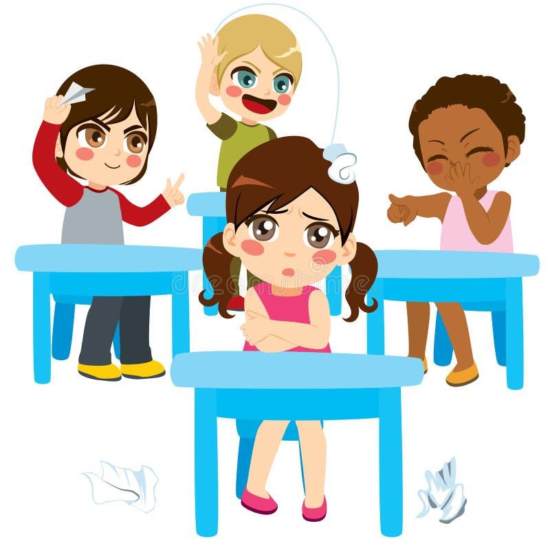 Crianças tiranizando da sala de aula ilustração royalty free
