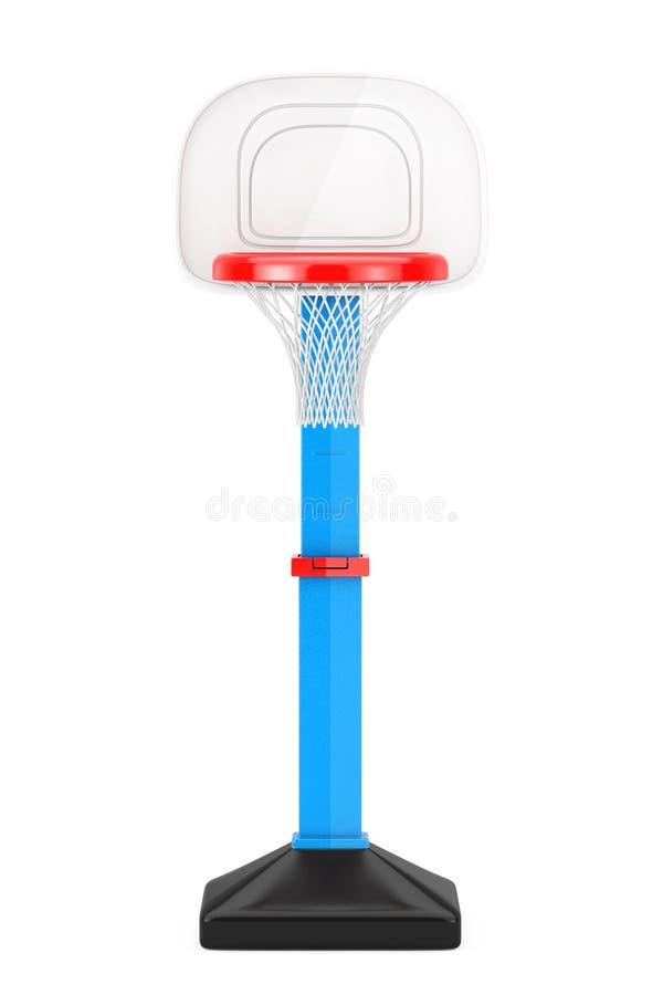 Crianças Toy Basketball Ring com rede rendição 3d ilustração stock
