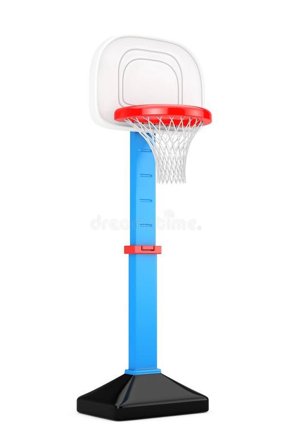 Crianças Toy Basketball Ring com rede rendição 3d ilustração do vetor