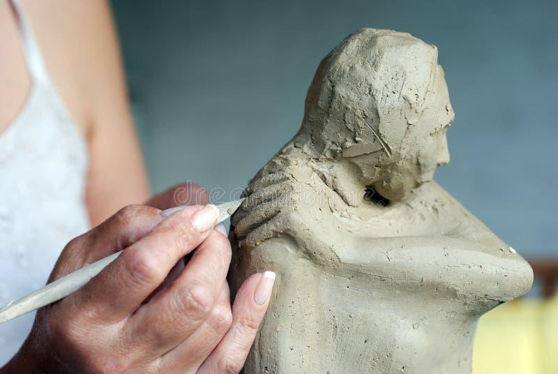 Criando a escultura imagem de stock royalty free