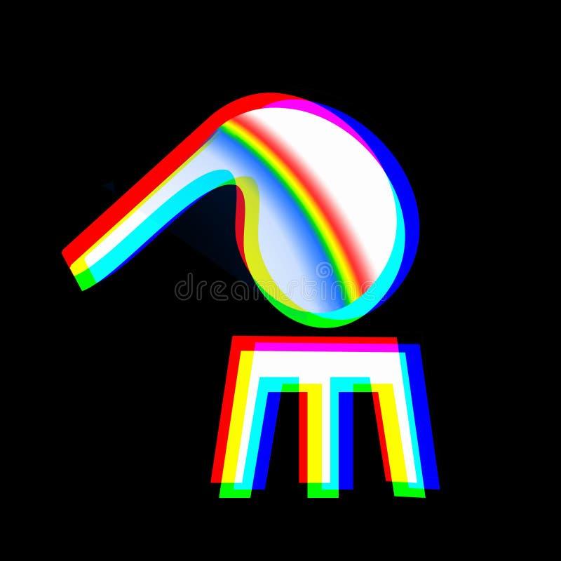 Criando um arco-íris ilustração royalty free