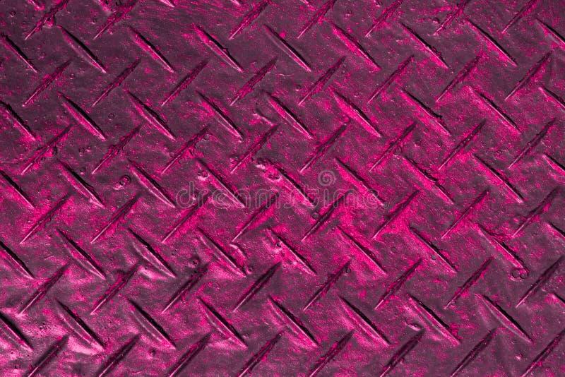Criativo cor-de-rosa chocado pintou a textura de aço - fundo abstrato bonito da foto ilustração do vetor