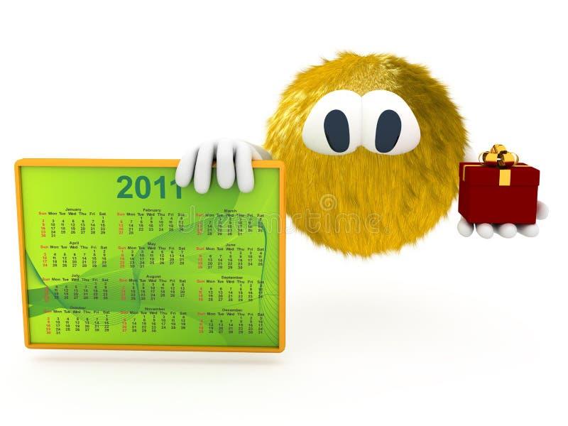 Download Criatura 3d Com O Calendário De 2011 Ilustração Stock - Ilustração de número, isolado: 16865853