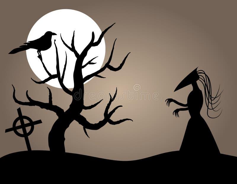 Criatura de Halloween ilustração stock