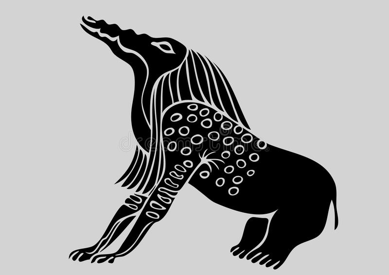Criatura - demónio egípcio ilustração do vetor