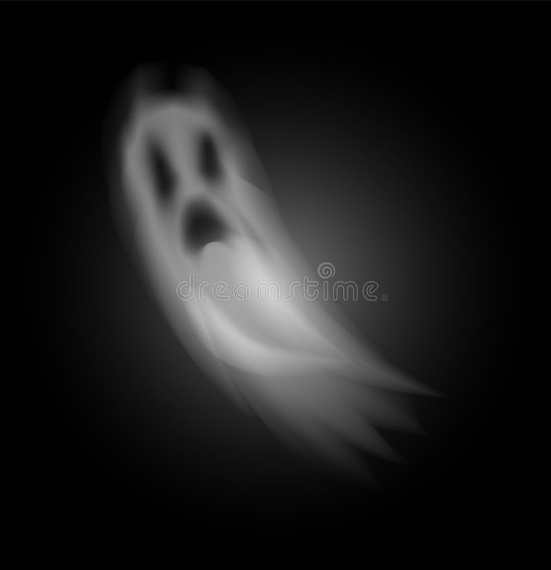 Criatura do espírito turbulento de Ghost do vetor de Dia das Bruxas ilustração do vetor