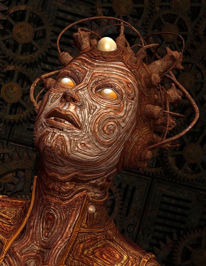 Criatura do Extraterrestrial com implante ilustração stock