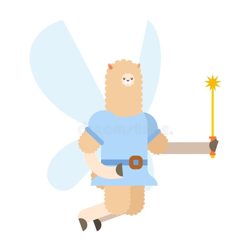 Criatura minúscula com asas Flyi ilustração stock