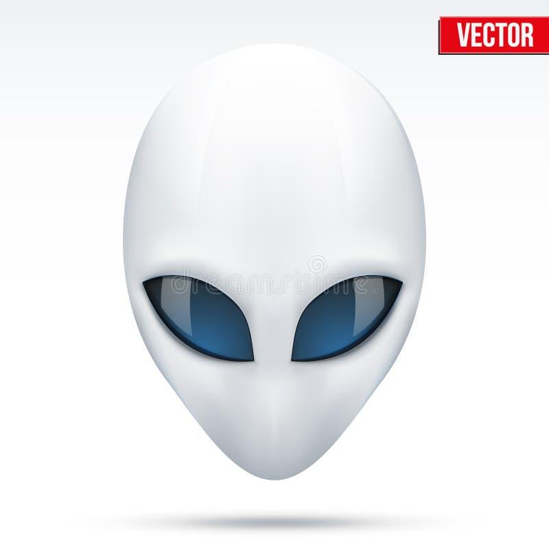 Criatura principal extranjera de otro mundo Vector ilustración del vector