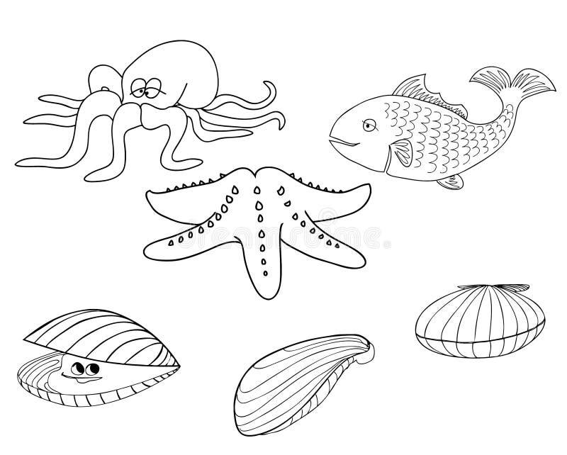 Criaturas 1 del mar libre illustration