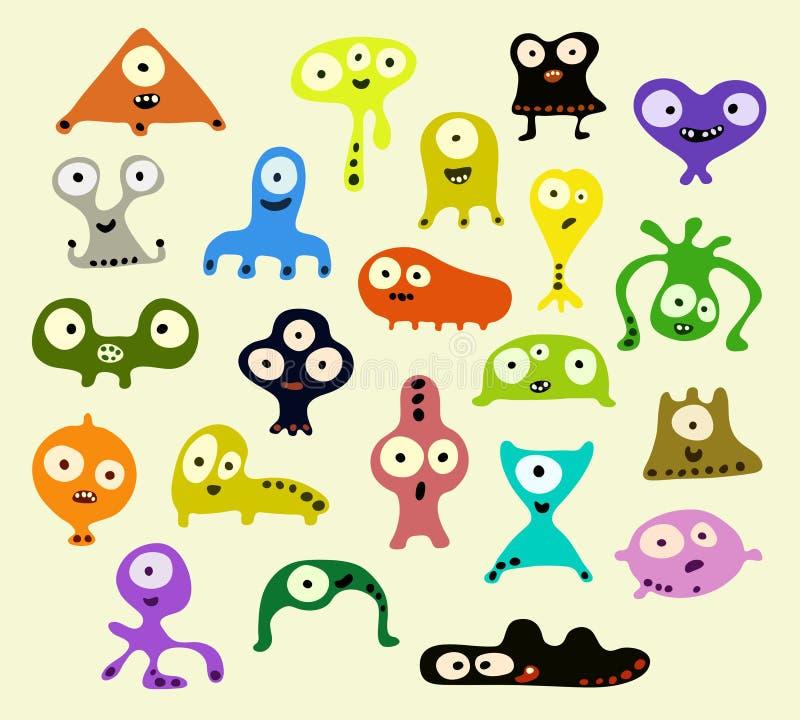 Criaturas ilustración del vector