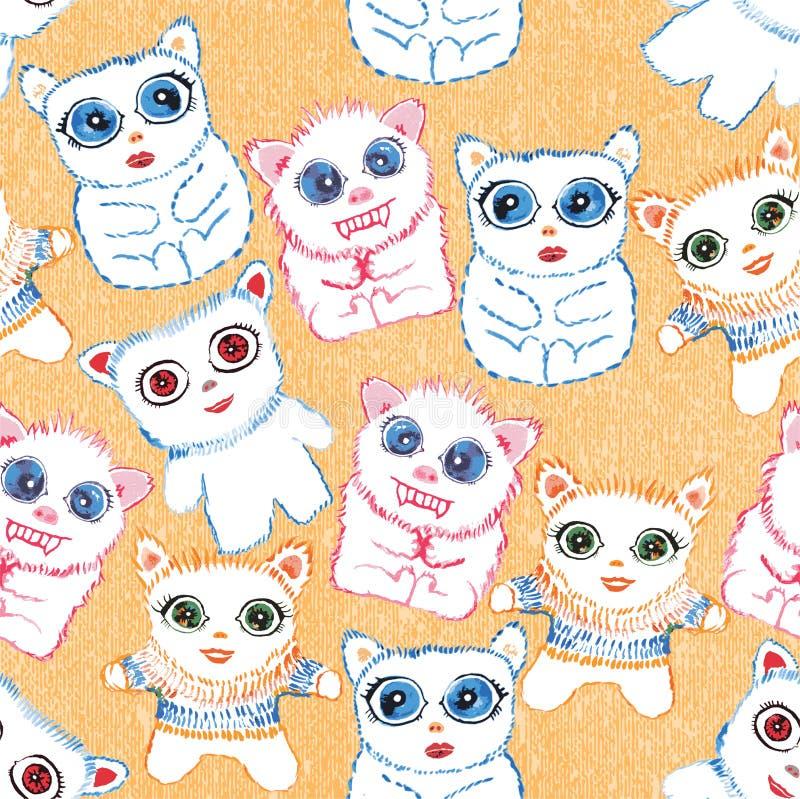 Criaturas bonitos frescas. ilustração royalty free