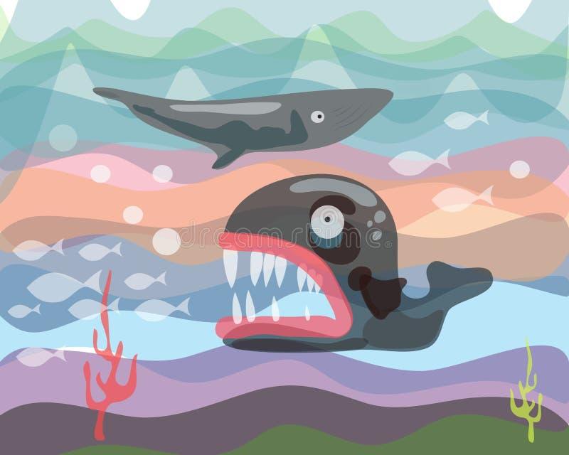 Criaturas c do mar ilustração royalty free