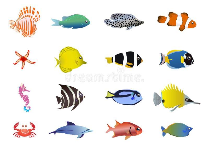 Criaturas do mar ilustração stock