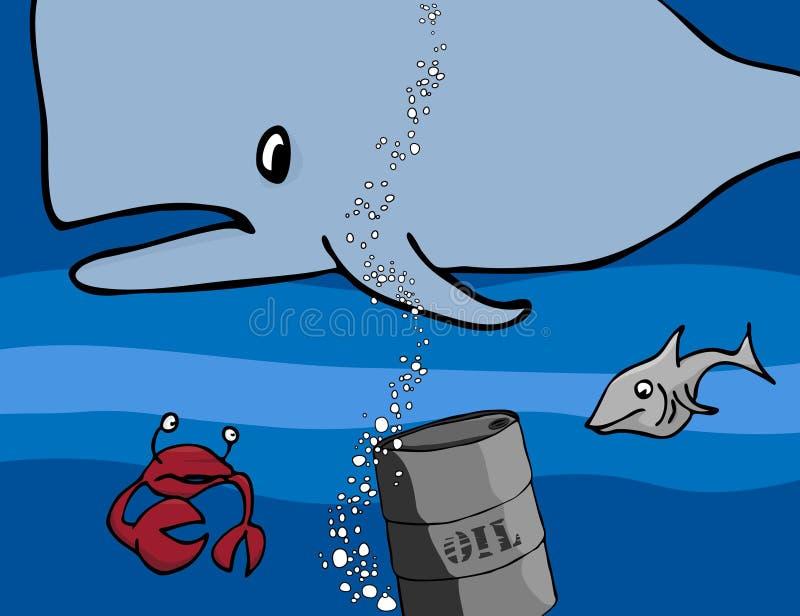 Criaturas modernas del mar del día stock de ilustración