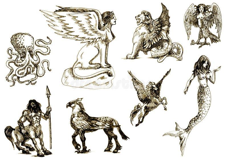 Criaturas Mystical 1 ilustração royalty free