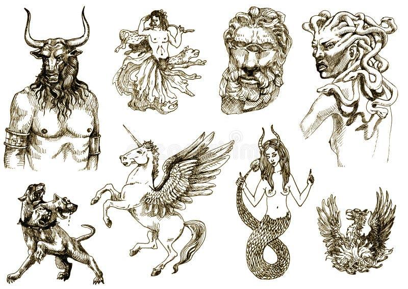 Criaturas Mystical 2 ilustração stock