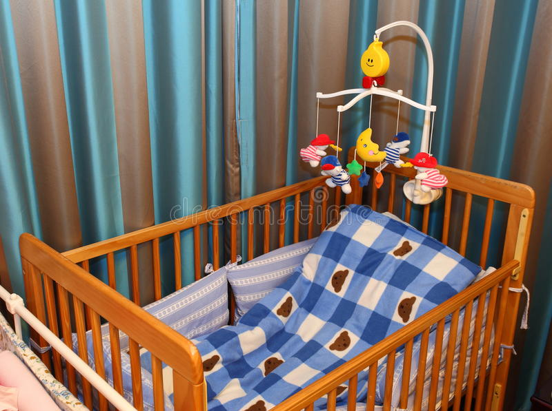 Crib and toy royalty free stock photo
