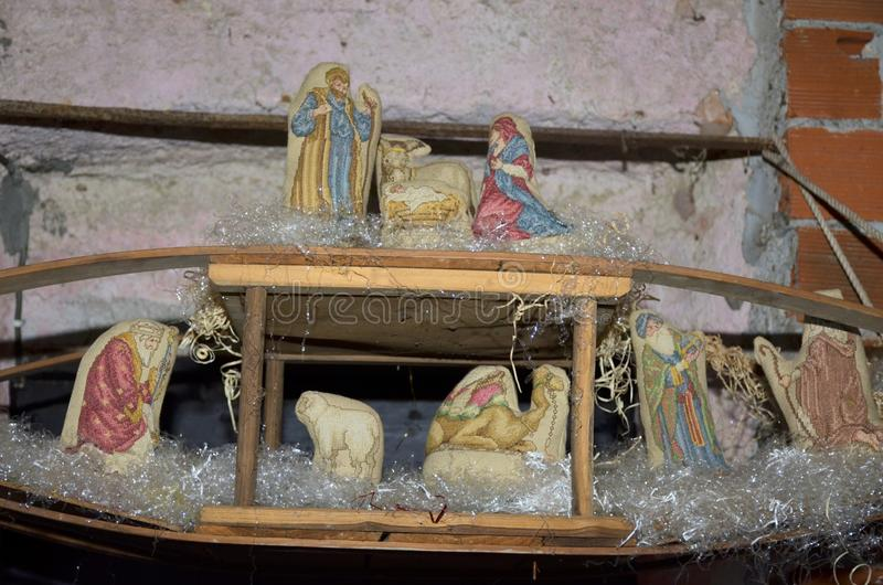 Cribs exposure Postua Vc. Italy. Postua December 2016 - Italy; Also this year it held the new edition of the exhibition of nativity scenes Postua. Postua is a stock photo