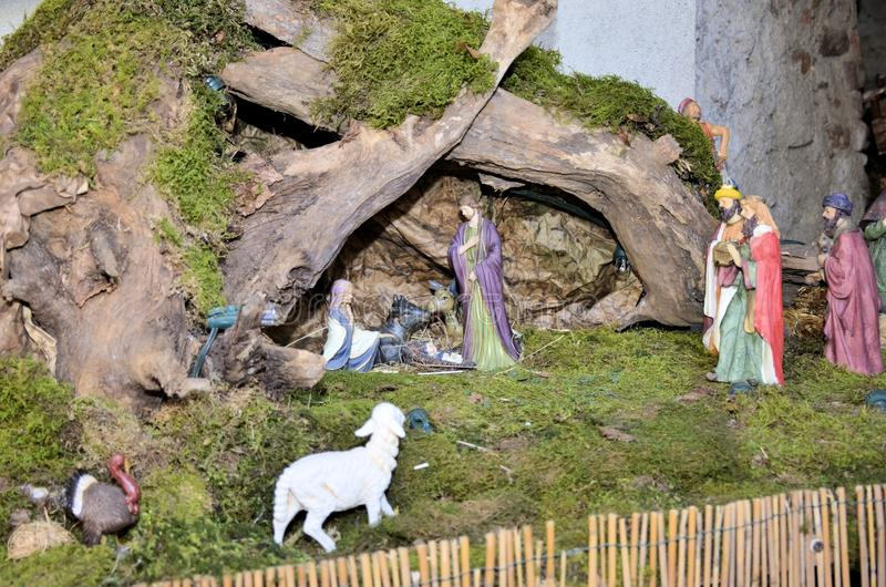 Cribs exposure Postua Vc. Italy. Postua December 2016 - Italy; Also this year it held the new edition of the exhibition of nativity scenes Postua. Postua is a stock image