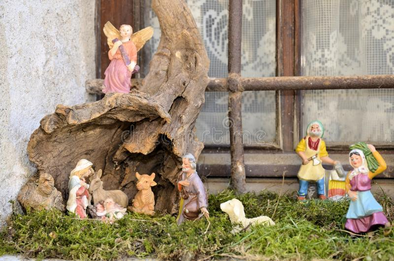 Cribs exposure Postua Vc. Italy. Postua December 2016 - Italy; Also this year it held the new edition of the exhibition of nativity scenes Postua. Postua is a stock photos