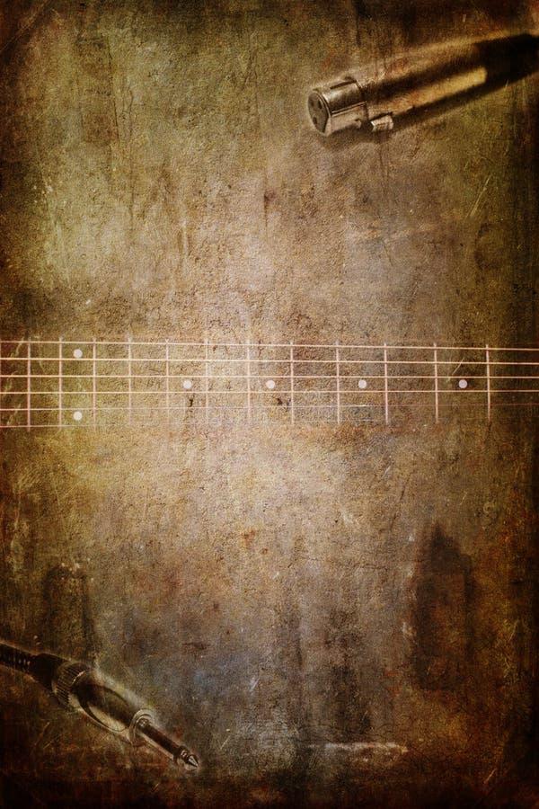 Cric de guitare et de microphones illustration de vecteur