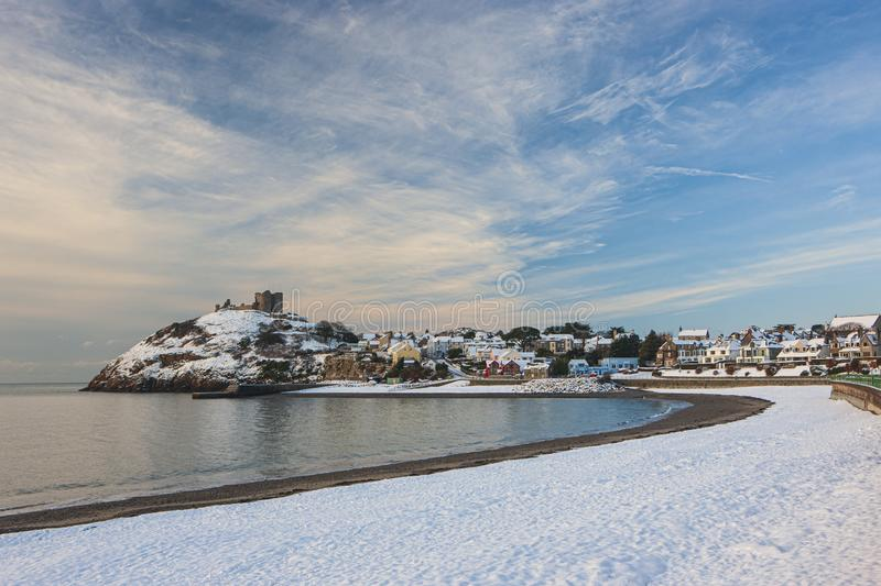 Criccieth mid Winter stock images