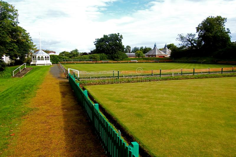 Crichton Estate Dumfries Scotland Bowling Greens. The Crichton estate in Dumfries and Galloway, south west Scotland. It incorporates part of Dumfries and royalty free stock photography