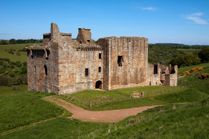 Crichton-Schloss, Edinburgh, Schottland lizenzfreie stockbilder