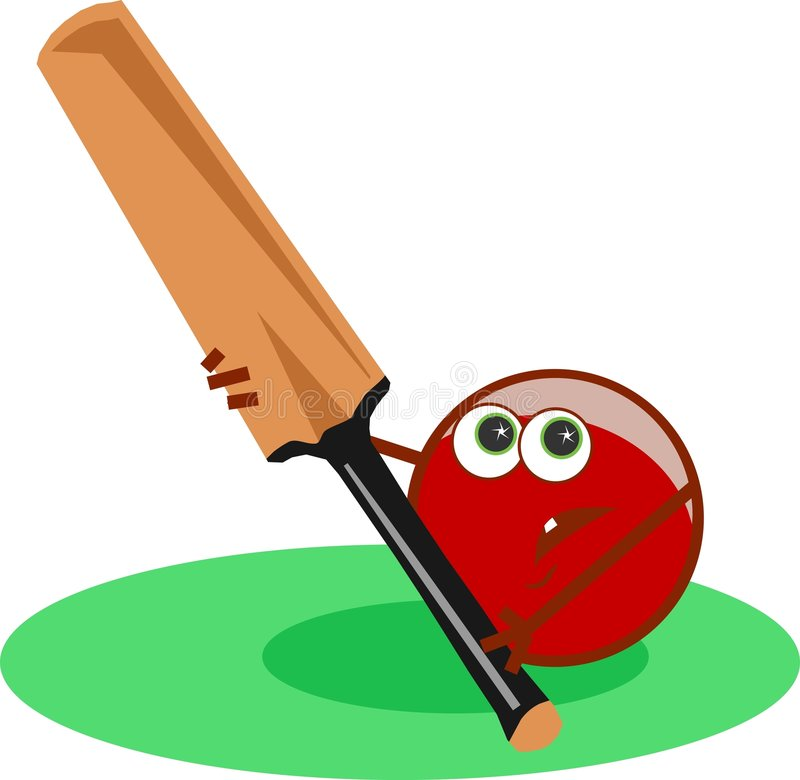 Cricket illustration stock