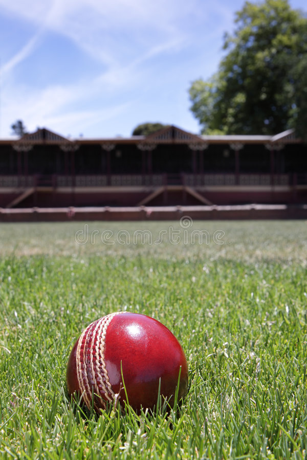 Cricket ball. royalty free stock image