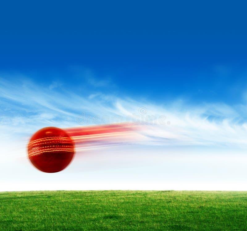 Cricket ball. A red Cricket ball in air royalty free stock photos