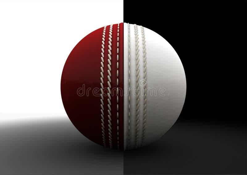 Cricket Ball Split Between Formats royalty free illustration