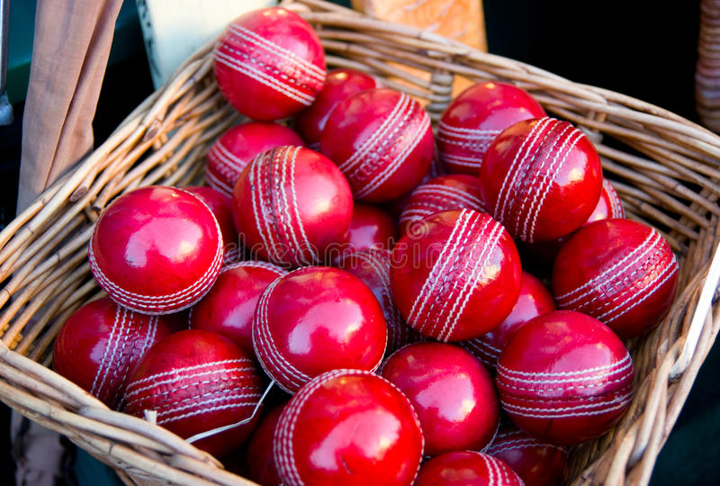Cricket Balls royalty free stock photography